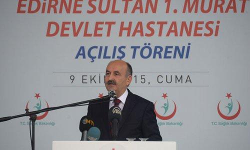 400 yataklı Sultan 1. Murat Devlet Hastanesinin açılışı yapıldı