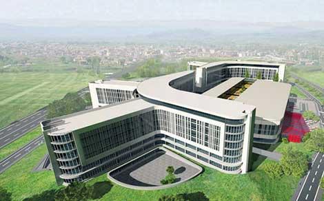 Gümüş, bin 875 yataklı Gaziantep Şehir Hastanesi inşaatını gezdi