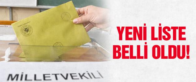 1 Kasım seçimlerinin vekil listesi belli oldu!