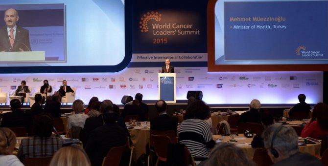 Bakan Müezzinoğlu, Dünya Kanser Liderleri Zirvesi'ne katıldı