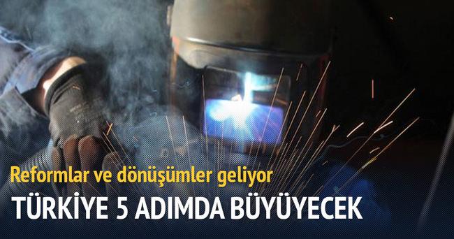 Türkiye 5 adımda büyüyecek