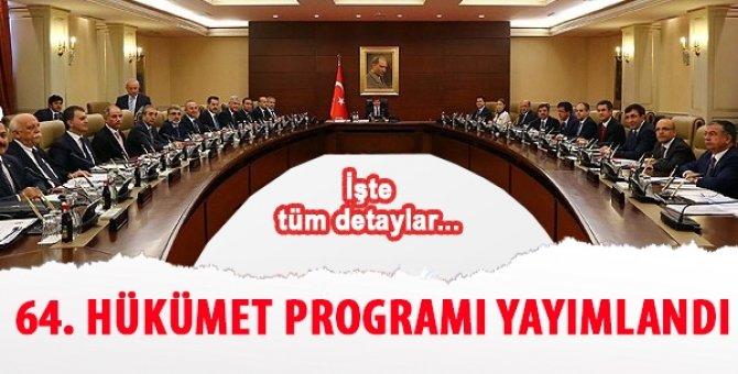 64. Hükümet Programı yayımlandı