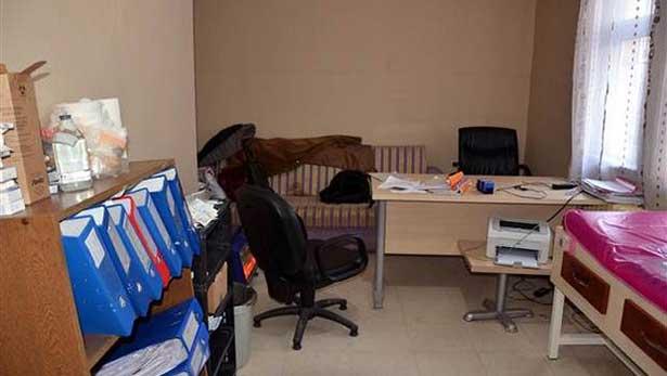 Silvan'da doktorların bilgisayarları çalındı
