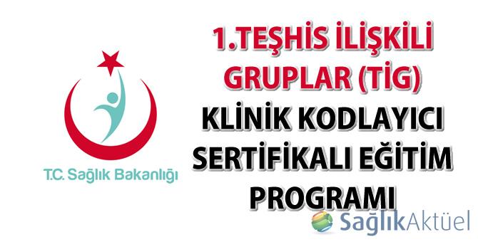 1.Teşhis İlişkili Gruplar (TİG) klinik kodlayıcı sertifikalı eğitim programı hakkında duyuru