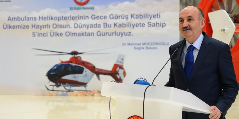 Müezzinoğlu, Gece Görüşlü Ambulans Helikopterleri Tanıttı