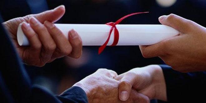 Doktor adaylarının mezuniyet töreni