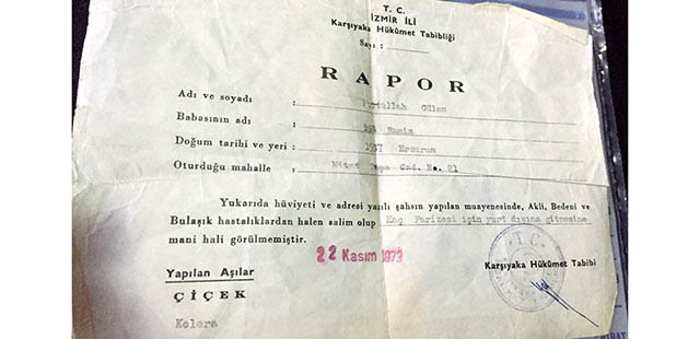Gülen'in sağlık raporunu, hatıra olarak saklayan komiser gözaltına alındı