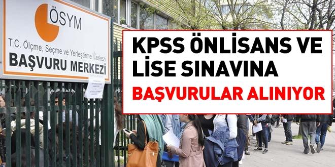 KPSS Önlisans ve lise sınavına başvurular alınıyor