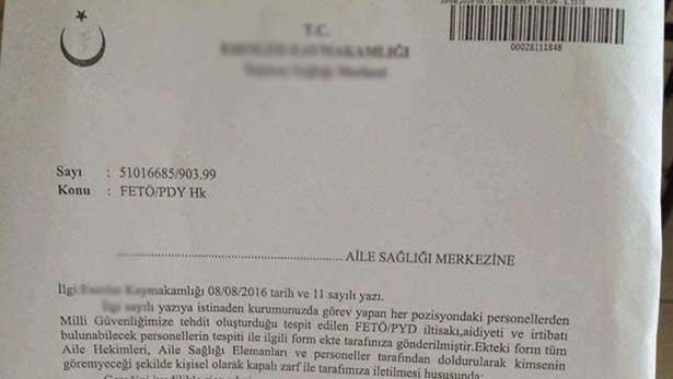 Sağlık Bakanlığı'ndan aile hekimlerine FETÖ anket formu açıklaması