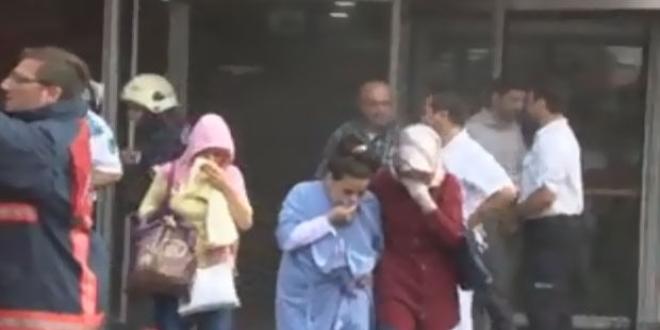 İstanbul'da özel hastanede yangın meydana geldi