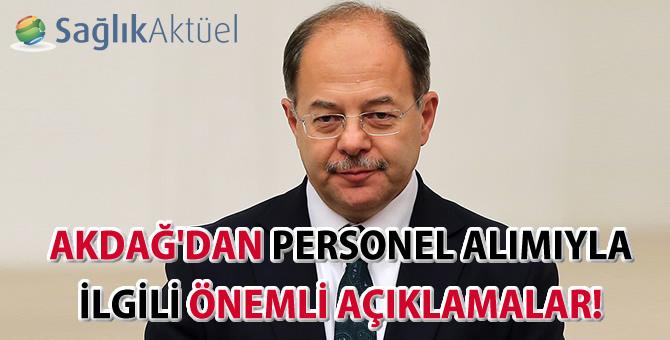 Sağlık Bakanı Akdağ'dan personel alımıyla ilgili önemli açıklamalar!