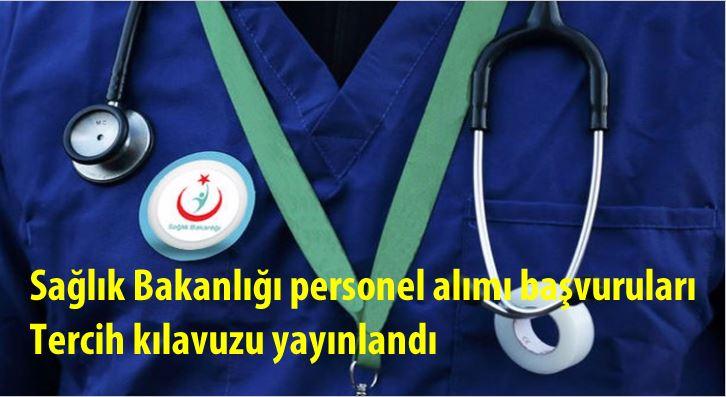 Sağlık Bakanlığı personel alımı başvuruları | Tercih kılavuzu yayınlandı