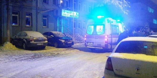 Konya'da kar topu oyunu hastanede bitti