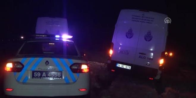 Tekirdağ'da cenaze nakil aracı devrildi: 1 yaralı