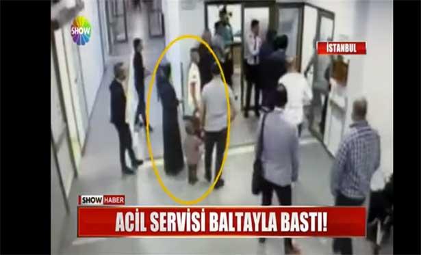 Hastanede baltalı saldırgan dehşeti