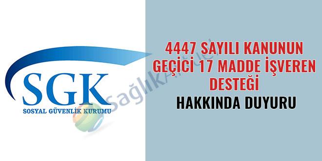 4447 geçici 17 madde işveren desteği hakkında duyuru