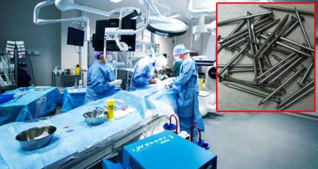 Mide ağrısıyla doktora başvuran hastanın bağırsağından 639 adet çivi çıktı