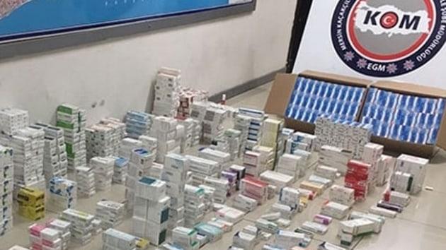 Tır parkında yapılan aramada 31 bin tablet kaçak ilaç bulundu