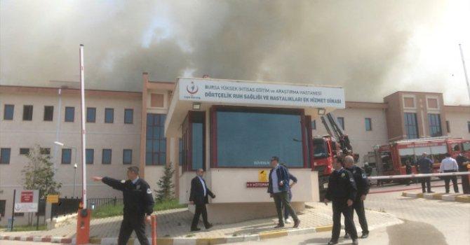 Bursa'da Ruh Sağlığı ve Hastalıkları Hastanesinde yangın