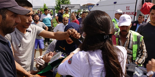Balıkesir'de ambulans kaza yaptı: 4 yaralı