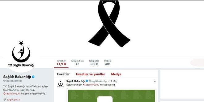 Sağlık Bakanlığı, Twitter hesabını kararttı