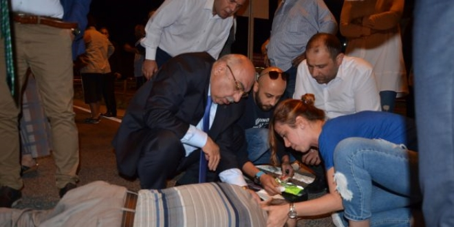 AK Partili adaydan yaralı vatandaşa ilk müdahale!