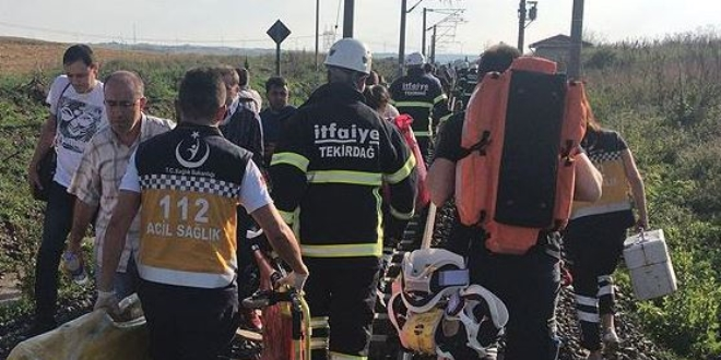Tekirdağ'da yolcu treni devrildi: Ölü ve yaralılar var