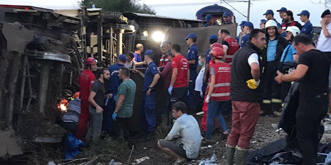Türk Kızılayı: Tren kazasıyla ilgili gerekli tüm tedbirler alındı