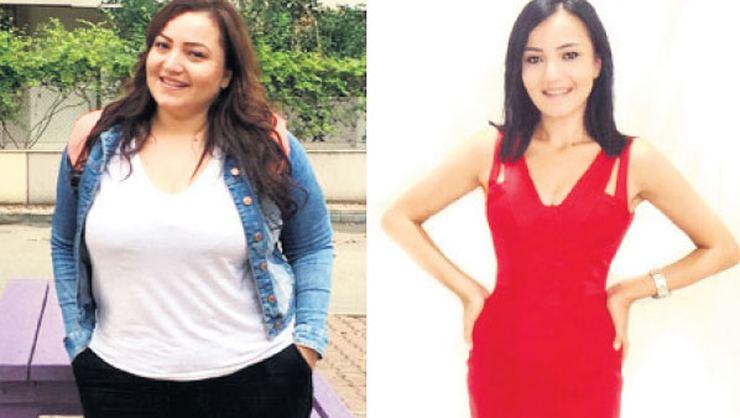 27 yaşındaki Gizem 10 ayda 54 kilo verdi!
