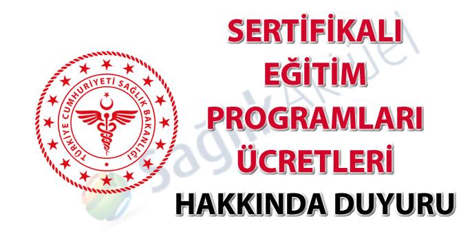 Sertifikalı eğitim programları ücretleri hakkında duyuru