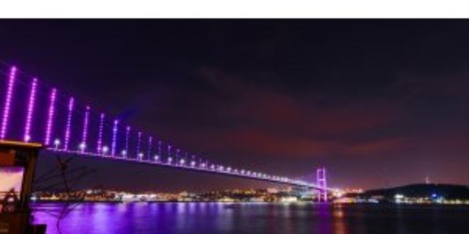 İstanbul'da köprüler epilepsiye dikkati çekmek için mora büründü