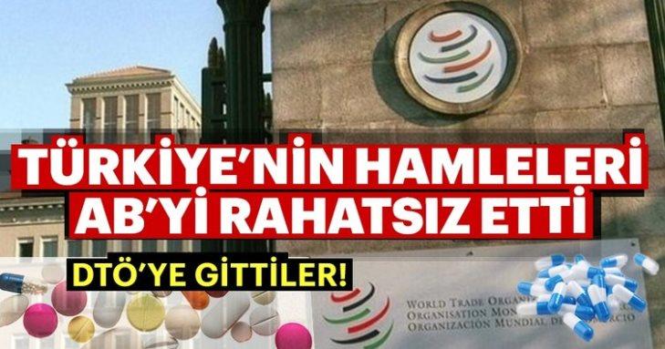 AB, ilaç üretimini yerlileştirmek isteyen Türkiye'yi DTÖ'ye şikayet etti
