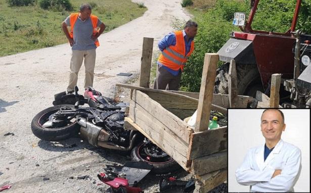 İki çocuk babası doktor motosiklet kazasında hayatını kaybetti