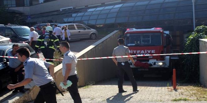Hastanede yangın çıktı, 27 hasta tahliye edildi