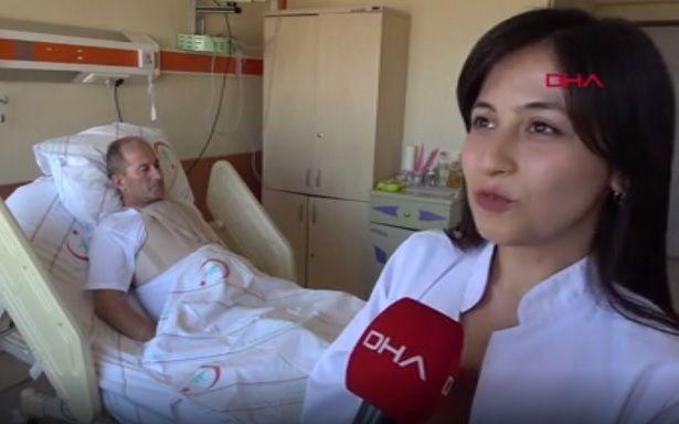 Tıp Fakültesini birincilikle bitirdi... Bir gün sonra kalp krizi geçiren babasının takibini yapıyor