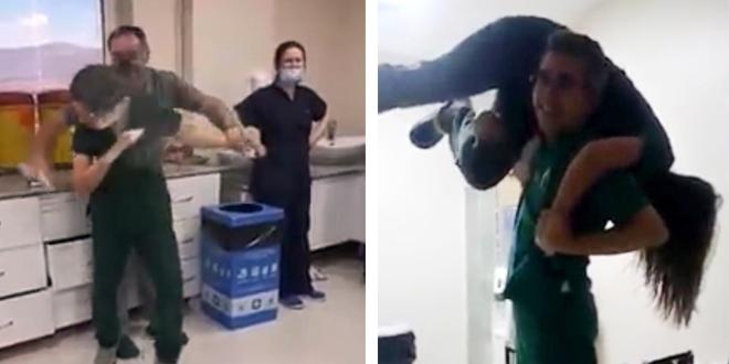 Hastane çalışanlarının uygunsuz eğlencesine soruşturma