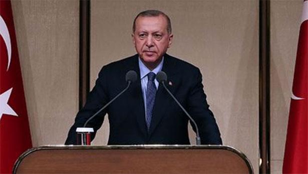 Cumhurbaşkanı Erdoğan, Kovid-19'la mücadele kapsamında ulusa seslendi: (1)