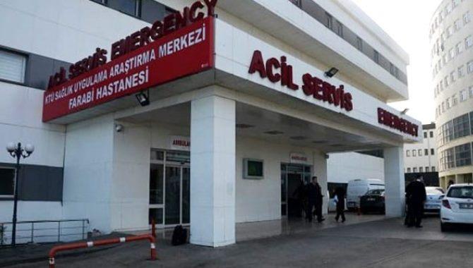 Trabzon'da hasta yakınları doktora oksijen tüpüyle saldırdı
