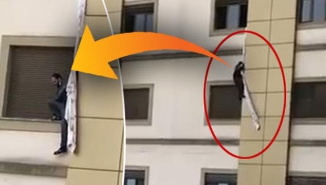 Korona şüphelisi çarşaf bağlayıp hastaneden kaçmaya çalıştı