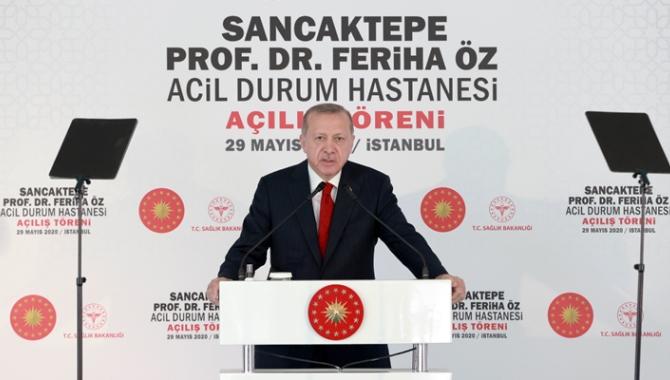 Cumhurbaşkanı Erdoğan, Sancaktepe Acil Durum Hastanesi'nin açılışını yaptı