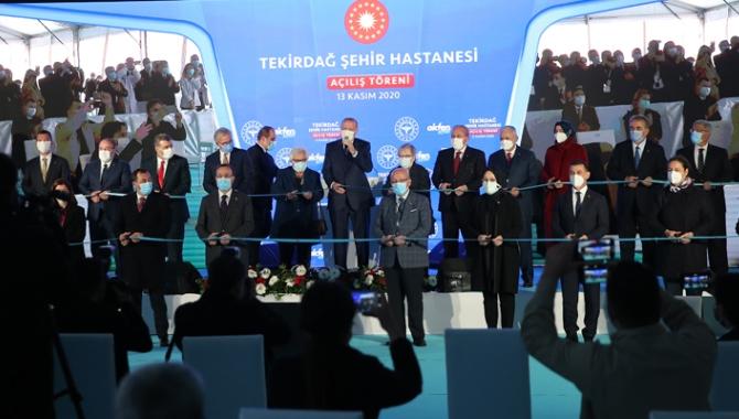 Cumhurbaşkanı Erdoğan, Tekirdağ Şehir Hastanesi'nin açılışını yaptı
