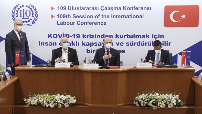Bakan Bilgin, işçi ve işveren konfederasyonlarının temsilcileriyle bir araya geldi: