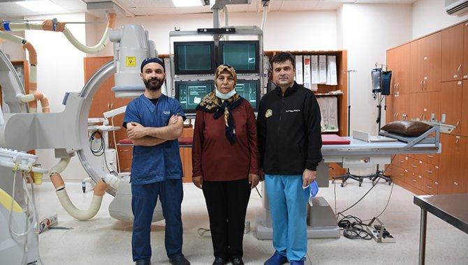 Konya'da karaciğer nakli listesindeki hasta, damarına yerleştirilen stent sayesinde hayata tutundu