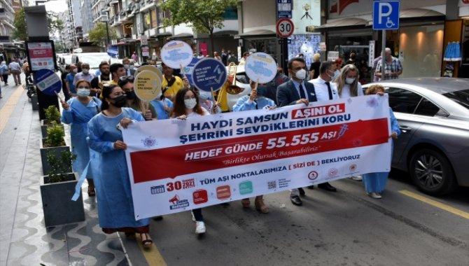 """Samsun'da """"Hedef 1 Günde 55 bin 555 Aşı"""" kampanyası başlatıldı"""