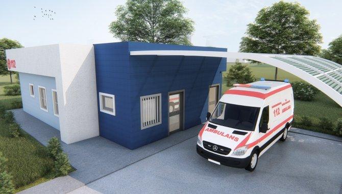 Ergani'de 112 acil sağlık hizmetleri istasyonu yapım çalışması