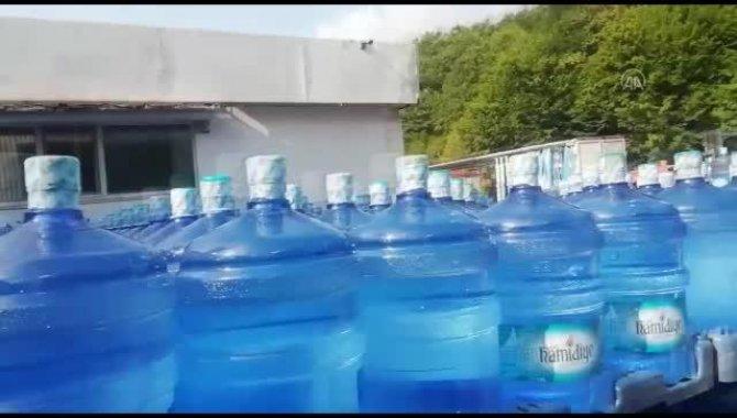 Şile'de mevzuata aykırı faaliyet gösterdiği tespit edilen su dolum tesisi mühürlendi