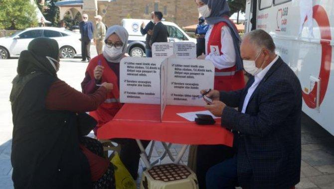 Merzifon'da kan bağışı kampanyası düzenlendi