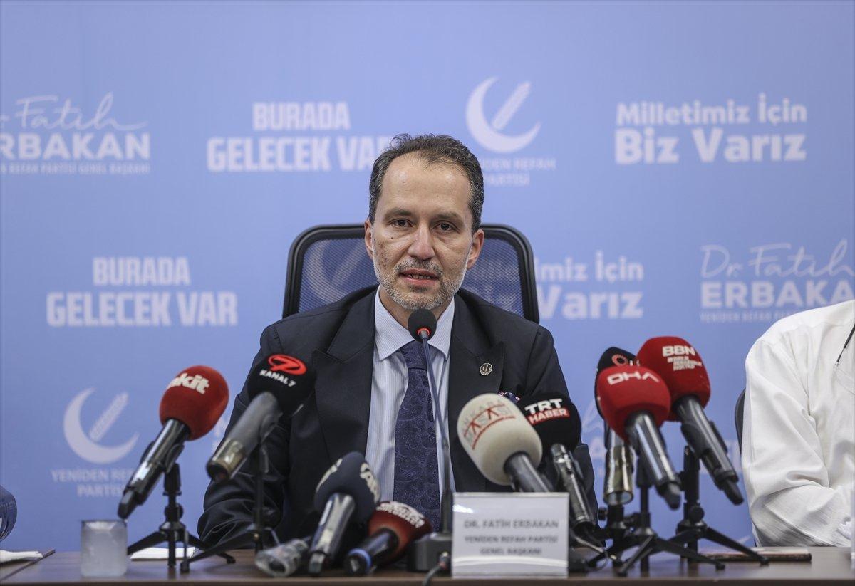 """Yeniden Refah Partisi Genel Başkanı Erbakan'dan """"TURKOVAC"""" açıklaması:"""