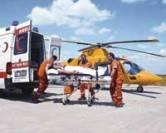 Hava ambulansları için hastanelere pist yapılıyor