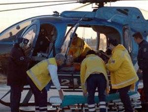Özel hastaneye hava ambulansı ile nakil